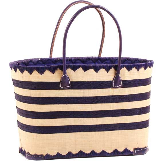 African Market Basket - Madagascar - Malagasy Tote - Approximately 17.5 Inches Across - #68863
