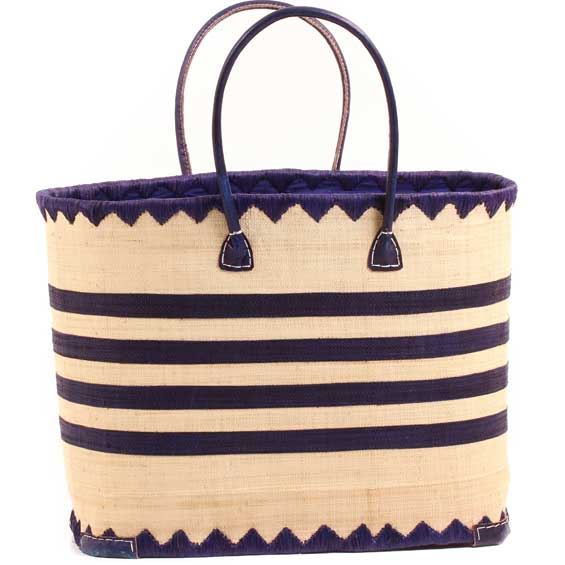 African Market Basket - Madagascar - XL Malagasy Tote - Approximately 18.5 Inches Across - #68868