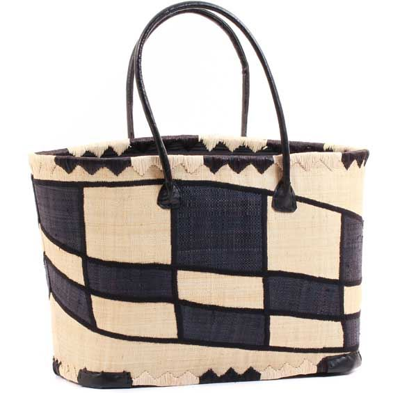 African Market Basket - Madagascar - Malagasy Tote - Approximately 18 Inches Across - #68878
