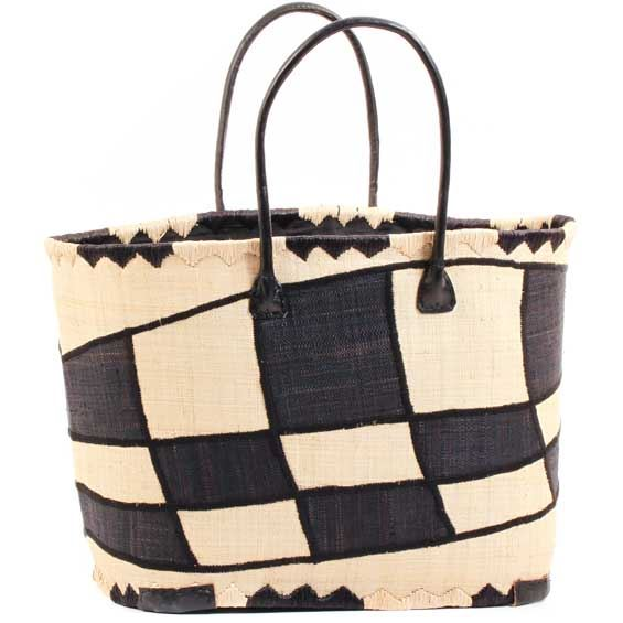 African Market Basket - Madagascar - XL Malagasy Tote - Approximately 19.5 Inches Across - #68882