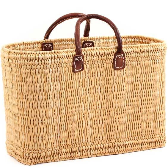African Basket - Morocco - Large Bulrush Tote - Approximately 18 Inches Across - #MR305-C