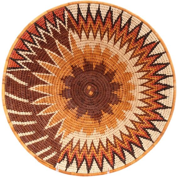 African Basket - Makalani Bowl - 12.75 Inches Across - #66589