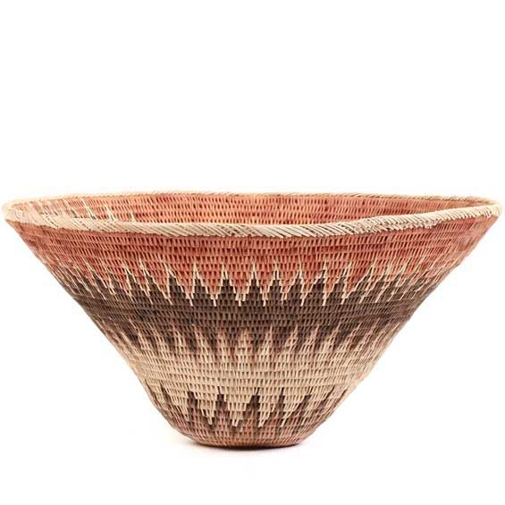 African Basket - Makalani Bowl - 10 Inches Across - #66596