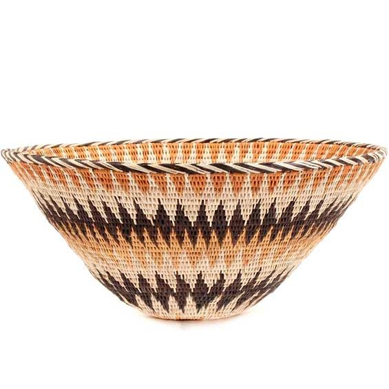 African Basket - Makalani Bowl - 11 Inches Across - #66601