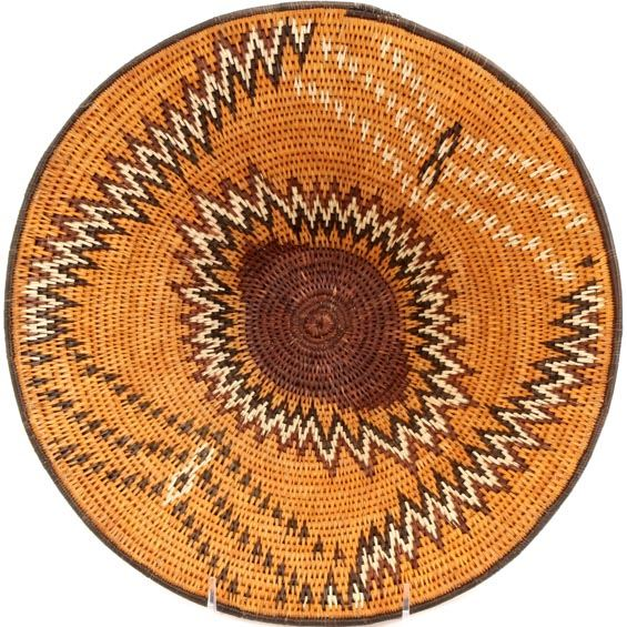 African Basket - Makalani Bowl - 12 Inches Across - #66613
