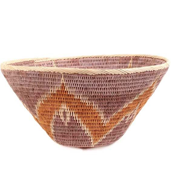 African Basket - Makalani Bowl - 10.5 Inches Across - #66614