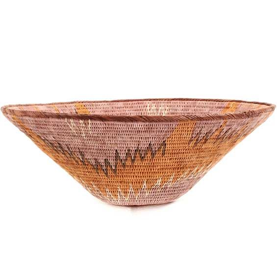 African Basket - Makalani Bowl - 10.75 Inches Across - #66619