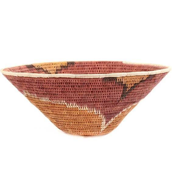 African Basket - Makalani Bowl - 10.25 Inches Across - #66626