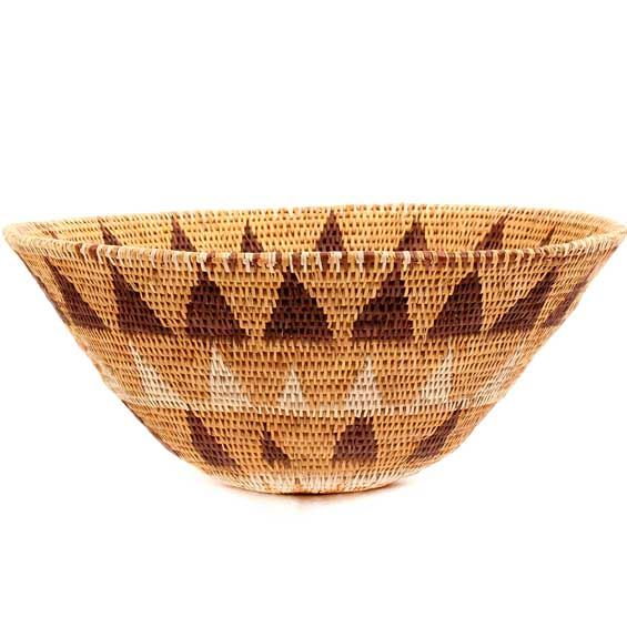 African Basket - Makalani Bowl - 10.5 Inches Across - #66631