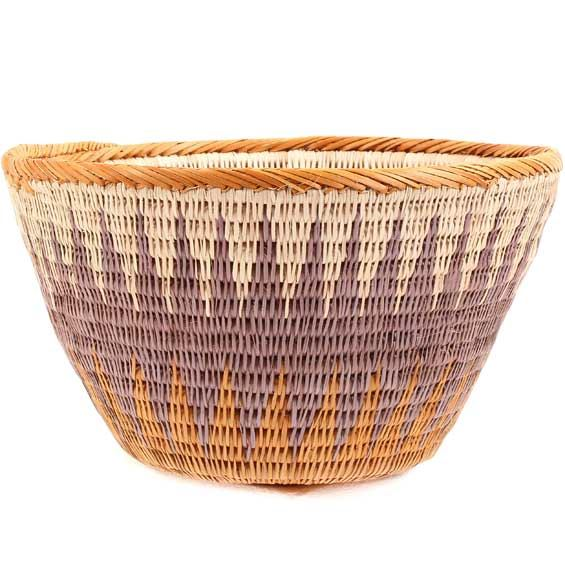 African Basket - Makalani Bowl -  8 Inches Across - #66637