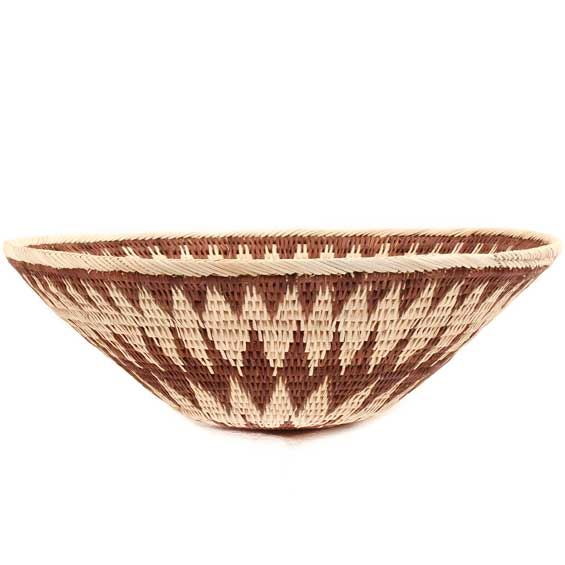 African Basket - Makalani Bowl -  9.5 Inches Across - #66656