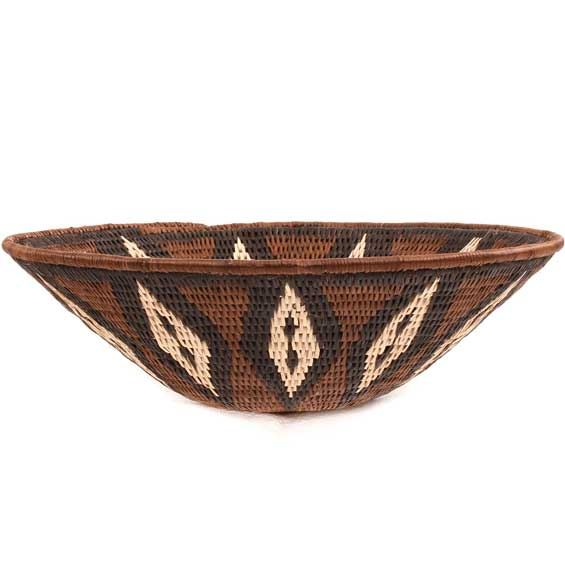African Basket - Makalani Bowl -  9.25 Inches Across - #66660