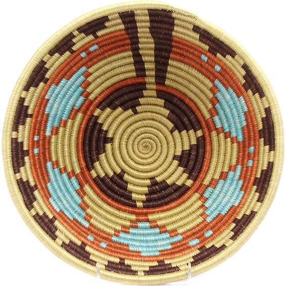 African Basket - Rwanda Sisal Coil Weave Bowl - 12 Inches Across - #33814
