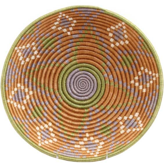 African Basket - Rwanda Sisal Coil Weave Bowl - 12 Inches Across - #33824