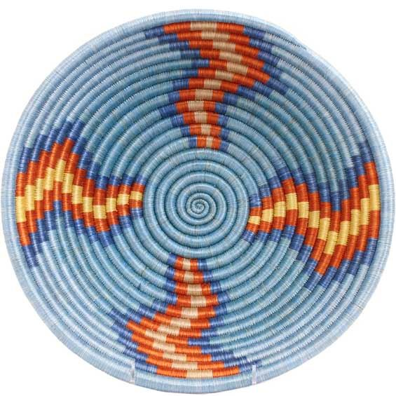 African Basket - Rwanda Sisal Coil Weave Bowl - 12 Inches Across - #56919