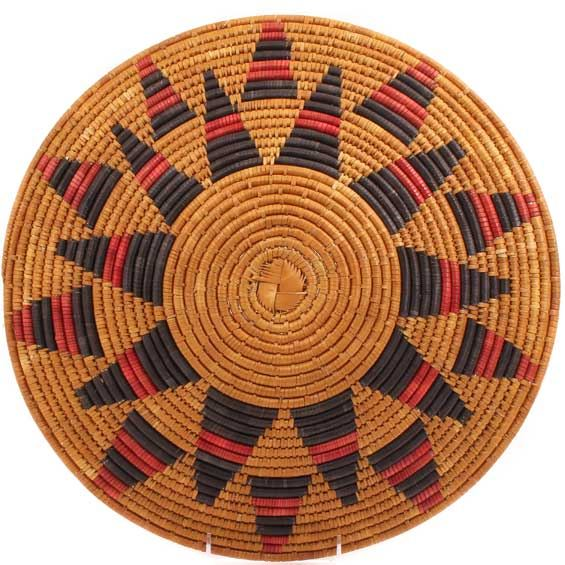 African Basket - Zulu Ilala Palm - Shallow Bowl - 16 Inches Across - #64408