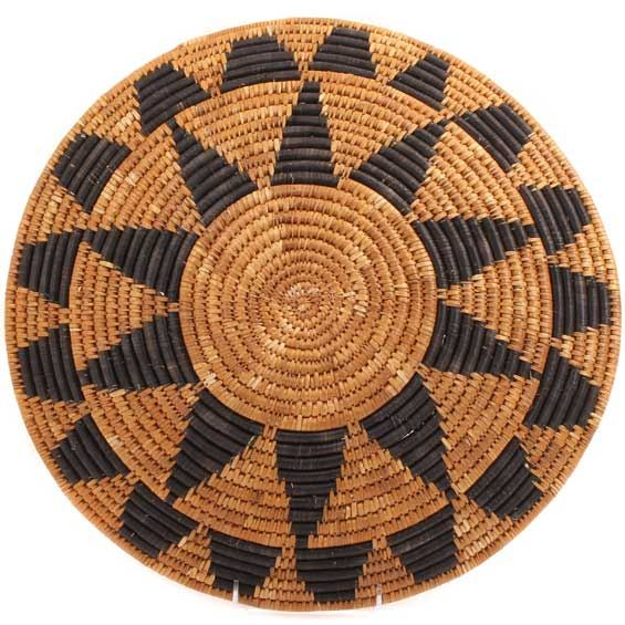 African Basket - Zulu Ilala Palm - Shallow Bowl - 16 Inches Across - #64415