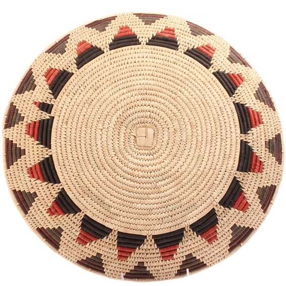 African Basket - Zulu Ilala Palm - Shallow Bowl - 15.75 Inches Across - #64431