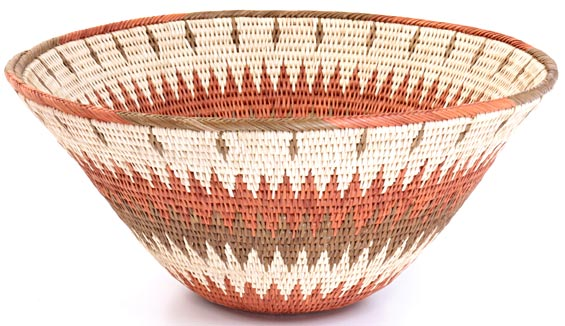 African Basket - Makalani Bowl - 11.5 Inches Across - #20601