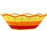 African Basket - Kenya - Beaded Bowl, Large - 10.75 Inches Across - #56596