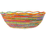 African Basket - Kenya - Beaded Bowl, Large - 10.75 Inches Across - #76024