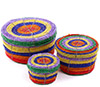 African Basket - Kenya - Set of 3 Round Nesting Boxes - #76038