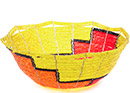 African Basket - Kenya - Beaded Bowl, Medium -  7.5 Inches Across - #77888