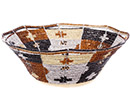 African Basket - Kenya - Beaded Bowl, Medium -  7.75 Inches Across - #77889