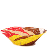 African Basket - Kenya - Beaded Bowl, Large - 11 Inches Across - #80426