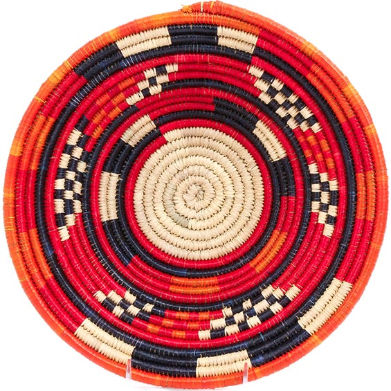 African Basket - Nubian Bowl - 12 Inches Across - #73071