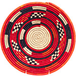 African Basket - Nubian Bowl - 12 Inches Across - #73072