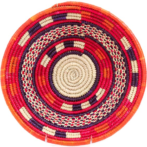 African Basket - Nubian Bowl - 12 Inches Across - #73076