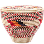 African Basket - Nubian - Canister - 16.5 Inches Across - #76056