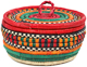 African Basket - Nubian - Canister - 7 Inches Across - #95268