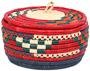 African Basket - Nubian - Canister - 7.5 Inches Across - #95271
