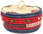 African Basket - Nubian - Canister - 7.5 Inches Across - #95273