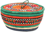 African Basket - Nubian - Canister - 7.5 Inches Across - #95274