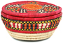 African Basket - Nubian - Canister - 7.5 Inches Across - #95276