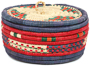 African Basket - Nubian - Canister - 7.5 Inches Across - #95277