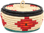 African Basket - Nubian - Canister - 8 Inches Across - #95278
