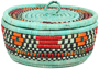 African Basket - Nubian - Canister - 8 Inches Across - #95279