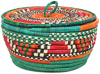 African Basket - Nubian - Canister - 8.5 Inches Across - #95281