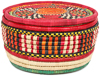 African Basket - Nubian - Canister - 8.5 Inches Across - #95282