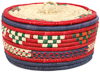 African Basket - Nubian - Canister - 8.5 Inches Across - #95283