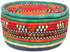 African Basket - Nubian - Canister - 8.5 Inches Across - #95284
