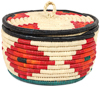 African Basket - Nubian - Canister - 9 Inches Across - #95288