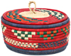 African Basket - Nubian - Canister - 9 Inches Across - #95290