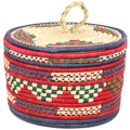 African Basket - Nubian - Canister - 10.5 Inches Across - #95293