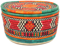 African Basket - Nubian - Canister - 10.75 Inches Across - #95294