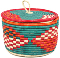 African Basket - Nubian - Canister - 10.75 Inches Across - #95296